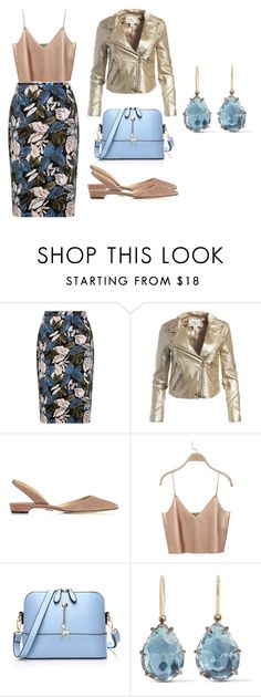 """""""Aube"""" by nenupha ❤ liked on Polyvore featuring Sans Souci, Paul Andrew and Larkspur & Hawk"""