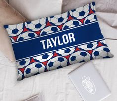Have sweet dreams of scoring the game winning goal on these Soccer Pillowcases! There are over 40 girls and guys designs that will add a touch of soccer to any room. Our pillowcases are soft, high quality, and make a fun soccer gift idea! Makes the best addition to any soccer lover's room! Soccer Room Decor, Soccer Gifts, Soccer Players, Pillowcases, Sweet Dreams, Goal, Throw Pillows, Touch, Fun