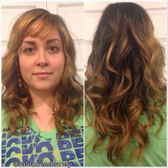 Another look at Saturdays rooted caramel highlighted color & extension work by Kristin! #salonheadcandy #extensions #hairextensions #rooted