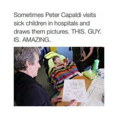 I'm so glad he's our Doctor :) <- Seriously, I don't know why he gets so much hate, he was born to play Twelve.