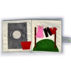 Quiet book, książeczka sensoryczna, inspirowana Montessori, maluchy, integracja sensoryczna.