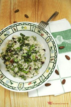 insalata di riso piselli e mandorle