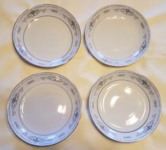 Set of 4 Diane by Sone Fine Porcelain China Cereal / Dessert Bowls FREE SHIPPING