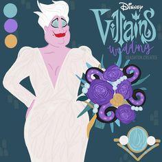 Disney Movie Characters, Disney Villains, Disney Movies, Fictional Characters, Ursula, Cinderella, Joker, Disney Princess, Wedding