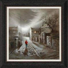 """""""It's Grim Up North but there's wonderful colour and life found everywhere. Work by painter Bob Barker Raindrops And Roses, English Artists, Pictures To Paint, Watercolor Paintings, Watercolour, Cool Art, Nostalgia, Original Art, Illustration Art"""