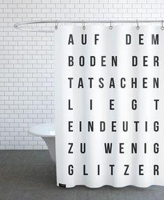 Sabrina's Glitzer - JUNIQE - Duschvorhang
