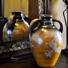 Alfresco Amber Olive Jar
