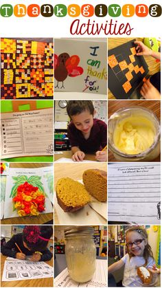 FANTASTIC hands on activities to make your Thanksgiving unit come to life.