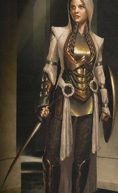 "Concept art of Lady Sif with cloak and hood from ""Thor"" Armor Concept, Game Concept Art, Lady Sif Cosplay, Badass Halloween Costumes, Female Thor, Female Warriors, Fantasy Art Women, Disney Princess Dresses, Fantasy Warrior"