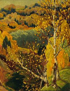 Franklin Carmichael (1890-1945), October Gold, 1922, Oil on canvas, 119.5 x 98 cm, Gift of the Founders, Robert and Signe McMichael, McMichael Canadian Art Collection.