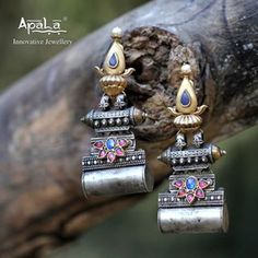 Inspired from the architecture of Tibet with the tribal flavours of the Kutch, Tibetan Splendour Earrings from Apala by Sumit would add zing to your trousseau! Tibet, White Gold Diamonds, Class Ring, Inspired, Architecture, Earrings, Silver, Inspiration, Jewelry