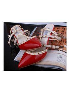 Leather Rivet Diamond Tip Shoes  www.choies.com