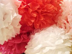 Tissue paper flowers for party decorations - so easy to do.