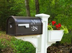 We love the dressed up mailbox used by Pretty Handy Girl in this Spring Makeover