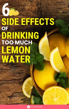 6 Side Effects Of Drinking Too Much Lemon Water: Does this mean drinking lemon water only can cause harm? In this post, we will look at what research says about the side effects of lemon water, and if you can prevent them in any way. Health Tips, Health And Wellness, Health Fitness, Effects Of Lemon Water, Drinking Lemon Juice, Effects Of Drinking, Food Hacks, Food Tips, Paratha Recipes