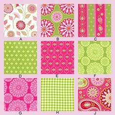 one of many fabric desgn collections from wich to choose a for crib bedding set $238  #fabric #crib #bedding