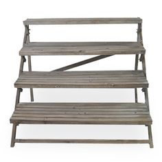 Wooden Four Step Retail Display