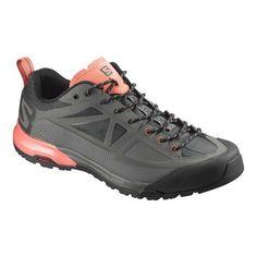 627384001fd7a Women s Salomon X-Alp SPRY Hiking Shoe - Castor Gray Beluga Living Coral