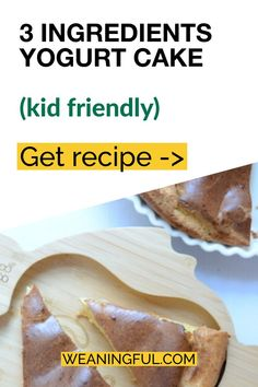 If you're looking for a simple meal idea for your baby, toddler or older child, then this 3 ingredient cake is quick and easy. It's soft and easy to chew for babies, but nutritious at the same time. Great for baby led weaning too. Healthy Baby Food, Healthy Meals For Kids, Meals For One, Easy Healthy Recipes, Baby Food Recipes, Kids Meals, Easy Meals, Baby First Foods, Baby Finger Foods