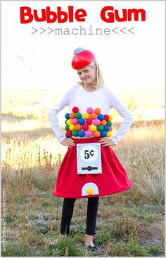 Best DIY Halloween Costume Ideas - bubblegum-machine-costume - Do It Yourself Costumes for Women, Men, Teens, Adults and Couples. Fun, Easy, Clever, Cheap and Creative Costumes That Will Win The Contest http://diyjoy.com/best-diy-halloween-costumes