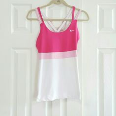 Nike Double Strap Racer Back .gently washed and worn  really great crossover strap work out top Nike Tops Tank Tops