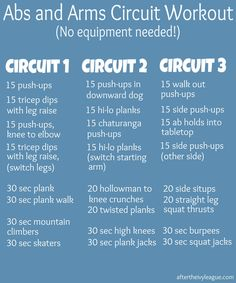 Abs and Arms Circuit Workout