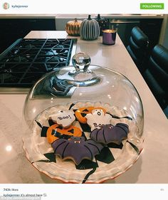 Tis the season: She was quite active on social media as she shared this photo of Halloween...