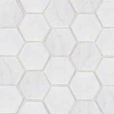 Jeffrey Court, Statuario Hex White 12 in. x 12 in. x 8 mm Marble Wall Tile, 53087 at The Home Depot - Mobile