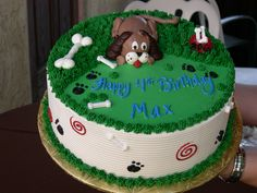 Birthday Cakes For Dogs In Massachusetts ~ Dog theme birthday cake. food pinterest birthday cakes