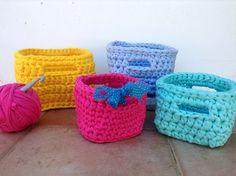 My Square crochet baskets