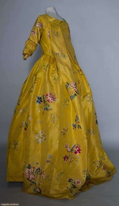 Augusta Auctions, March 30, 2011 - St. Pauls, Lot 305: Polychrome Embroidered Robe A La Francaise, 1765