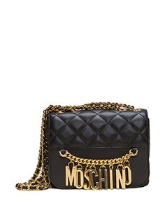 MOSCHINO Quilted Shoulder Bag with Charms