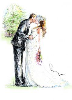 85 best wedding illustration images in 2015 Wedding Painting, Wedding Art, Wedding Album, Wedding Images, Wedding Guest Book, Wedding Pictures, Wedding Vintage, Dream Wedding, Wedding Illustration