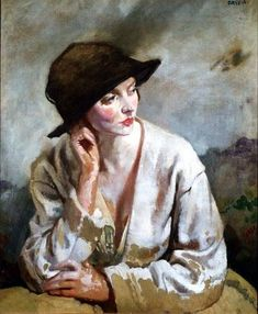 Portrait of Miss Sinclair by Sir William Newenham Montague Orpen (UK)