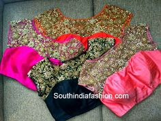 pearl work blouse designs