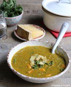 #Recette #Soupe aux deux #lentilles et #Cantal