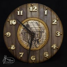 Restore Wood, Wood Clocks, Oclock, My Works, Wood Crafts, Decoupage, Art Gallery, Projects To Try, Wall Decor