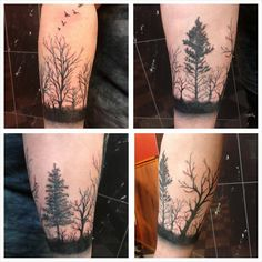 Forrest tattoo by Mel van Hel aka Electronic-Sin.deviantart.com on @deviantART