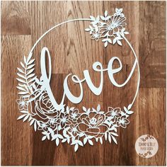 Love Flower Circle SVG PDF Papercutting Template to print Paper Cutting, 3d Laser Printer, Diy And Crafts, Paper Crafts, Cricut, Flower Circle, Circle Design, Love Flowers, Paper Art