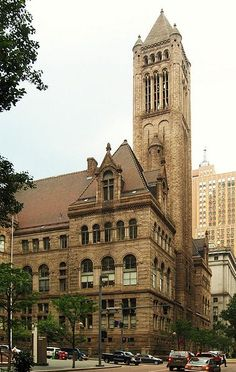 One of downtown Pittsburgh's most distinctive buildings is the Allegheny County Courthouse, designed in 1883 by renowned architect, Henry Hobson Richardson.