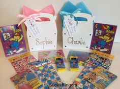 Childrens Personalised Filled Wedding Activity Box Bag Favour Pink Blue White in Home, Furniture & DIY, Wedding Supplies, Wedding Favours Kids Table Wedding, Wedding Table Decorations, Wedding With Kids, Wedding Gift Bags, Wedding Favours, Diy Wedding, Wedding Things, Pink Blue, Blue And White