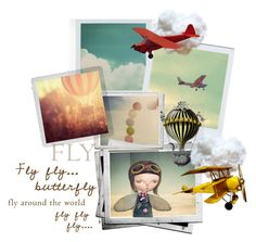 """Fly Butterfly Fly"" by felicia-mcdonnell ❤ liked on Polyvore featuring art"