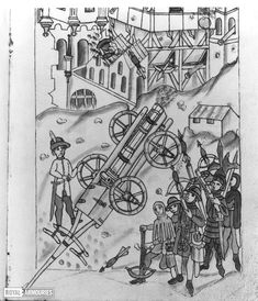 [Feuerwerkbuch] Firework book showing the manufacture and use of gunpowder - Royal Armouries collections Carriage Bed, Medieval Crossbow, Pile Driver, Grappling Hook, Fire Pots, Book Show, Fireworks, Hand Guns, Collections