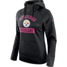Pittsburgh Steelers Nike Women's Breast Cancer Awareness Circuit Performance Pullover Hoodie Black $35 http://www.mybestjerseystore.com/Product/?Sort=555