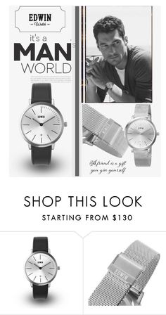 """Edwin Watch ""Our Time Together"""" by manuela-cdl ❤ liked on Polyvore featuring KENNY, men's fashion, menswear, BeClassic and EdwinWatch"