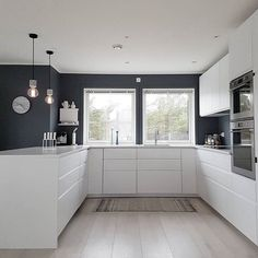 Likes, 21 Comments - Janne Iversen ( - Open Plan Kitchen Living Room, Kitchen Room Design, Luxury Kitchen Design, Home Decor Kitchen, Home Kitchens, Interior Design Kitchen, Inside A House, Bungalow Kitchen, Cuisines Design