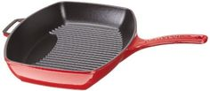 Chasseur French Double Enameled Rectangular Cast Iron Grill Pan, Red by French Home, LLC. $86.88. Double-enameled cast iron. Made in France. Excellent heat conductor. 10 Year factory warranty. Cast iron grill pan for great even grilling. Chasseur French double enameled cast iron cook ware is a superior product to other cat iron brands.  Our Chasseur cast iron items have stood the test of time. The fusion of enamel, or melted glass powder, with the cast iron creat...