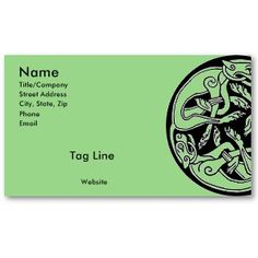 Celtic Dogs Business Cards by Celtic Creations.