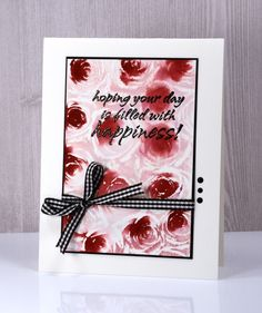 Roses happiness card by Heather Telford