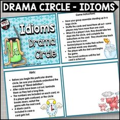 Drama circle for figurative language? Yes, please! Students will love acting out these idioms!